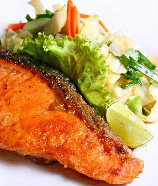 Salmon with Zesty Honey Marinade