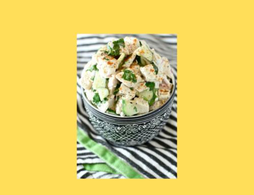 Chicken Salad with Cucumber & Yoghurt Dressing
