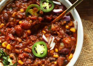 Black Bean & Lentil Chilli