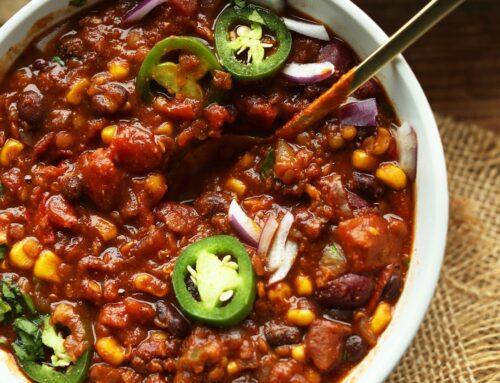 Plant based Bean & Lentil Chilli